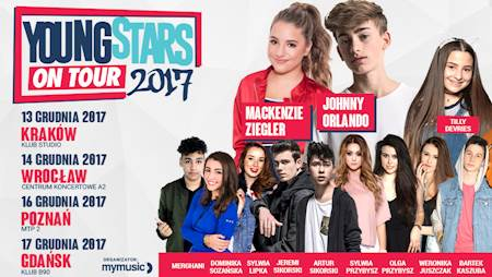 Young Stars on Tour (Johnny Orlando, Tilly Devries) @ Pawilon 2 MTP